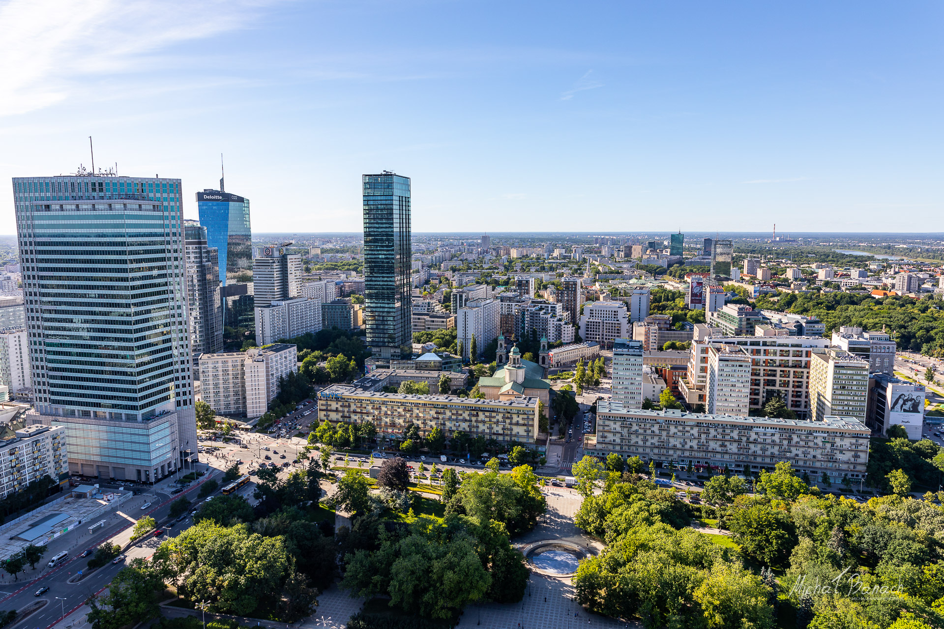 Panorama of Warsaw from Palace of Culture and Science